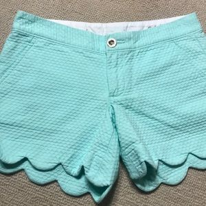 Lilly Pulitzer Shorts - Light green Lilly Pulitzer Buttercup shorts, Sz 00